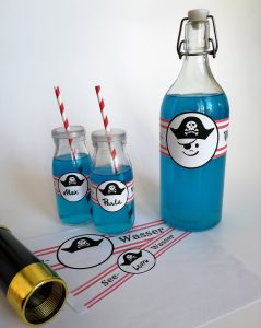 Seewasser Piratengeburtstag