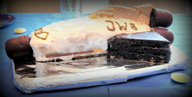 Weltraum-Geburtstag Kuchen