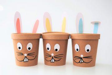 Pappbecherhasen für Ostern