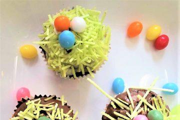 Ostser-Muffin mit Ostergras