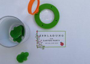 Gartenparty Einladung basteln