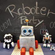 Roboter Geburtstag Roboterkuchen