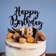 Semi Naked Cake 18. Geburtstag