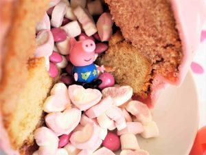 Peppa Wutz Pinata Kuchen gefüllt