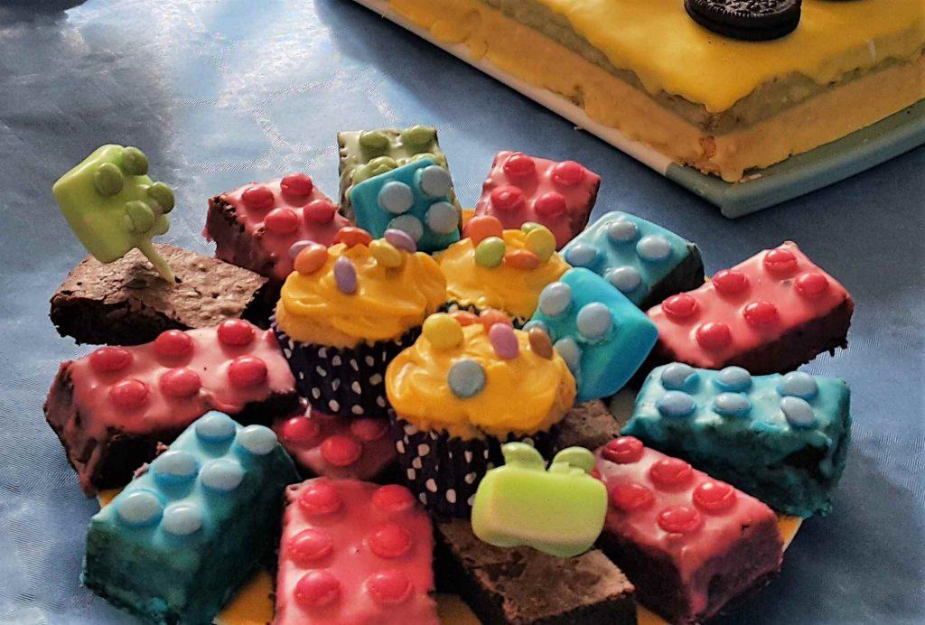Lego-Brownies Lego-Geburtstag
