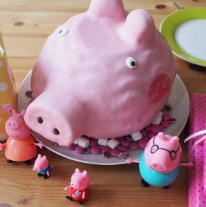 Peppa Wutz Kuchen Fondant