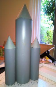 Keks-Rakete für Weltraum-Party