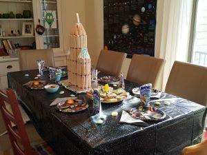 Weltraumgeburtstag Keksrakete