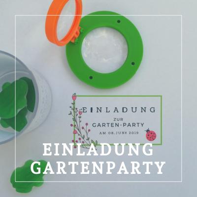 Einladung Gartenparty
