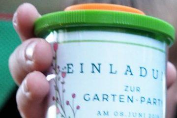 Einladung Gartenyparty