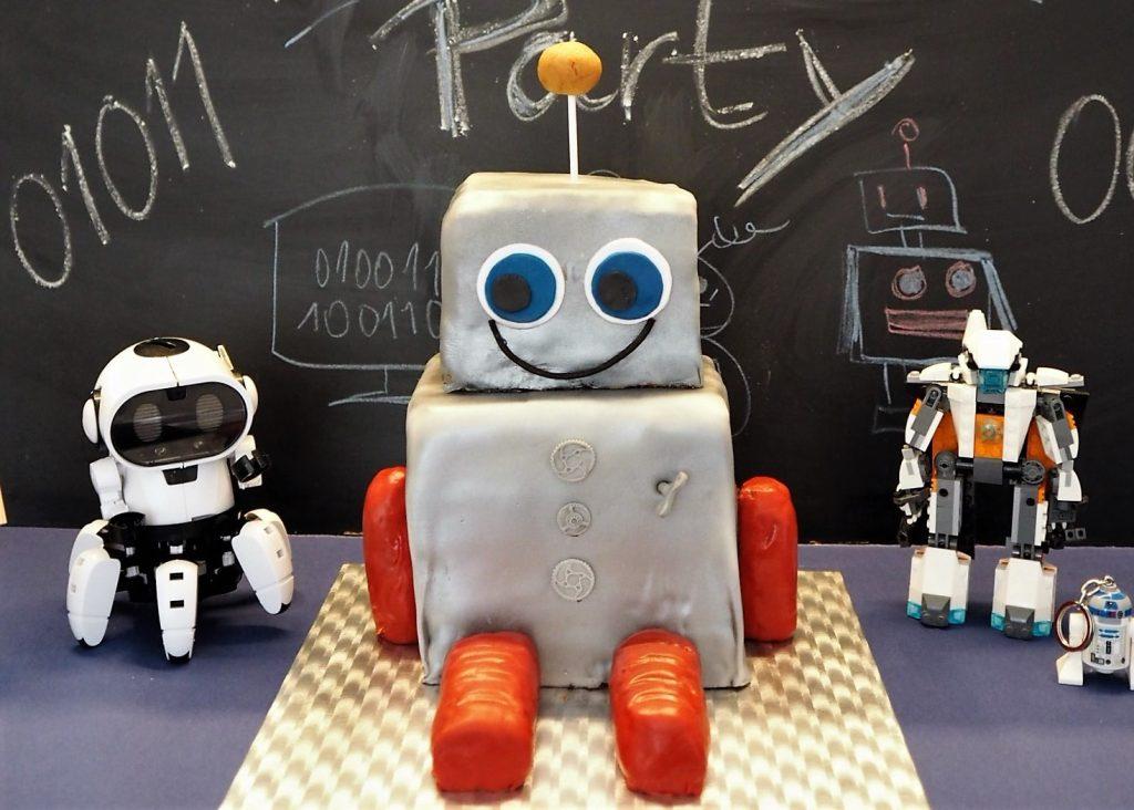 Roboter Motivtorte