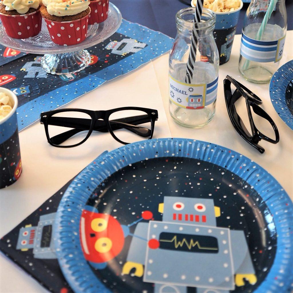 Roboter Geburtstag Deko