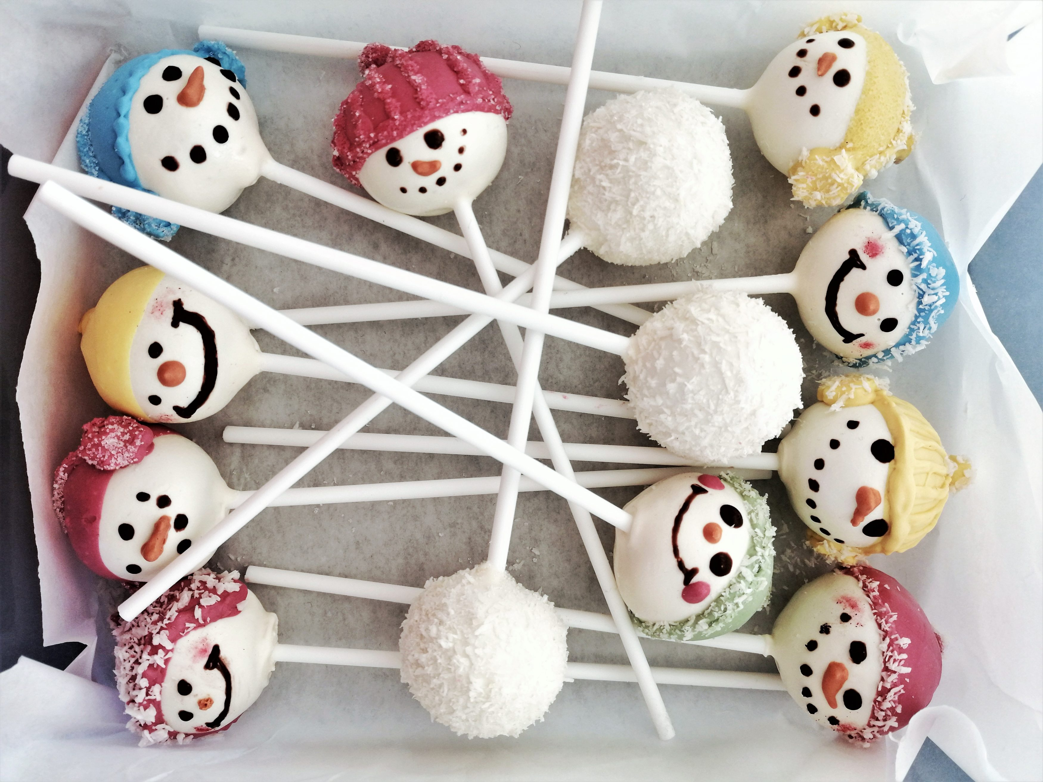 Schneemann Cake Pops Eat a Rainbow