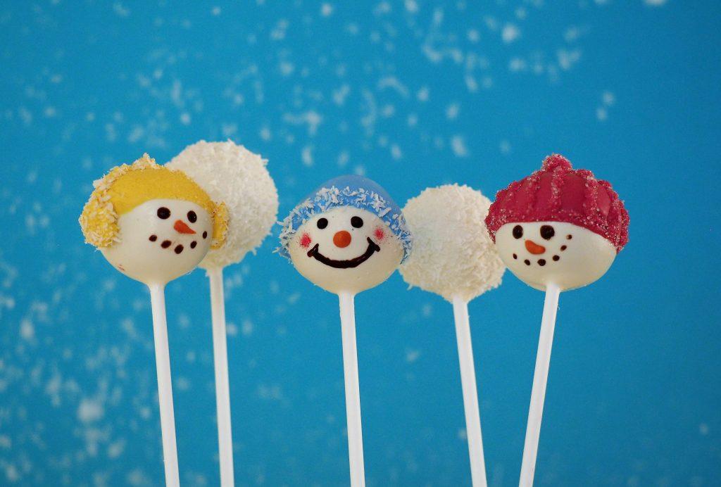 Cake Pop Schneemänner