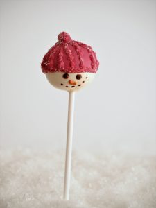 Schneemann Cake Pop Eat a Rainbow