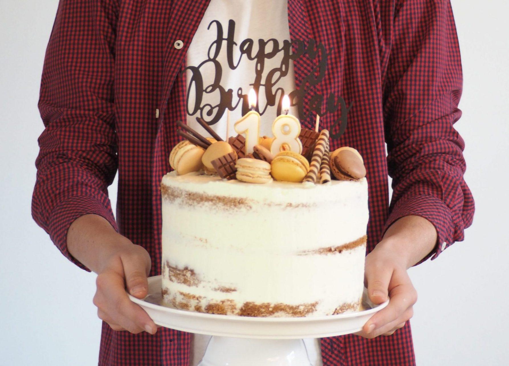 18. Geburtstag Semi Naked Cake