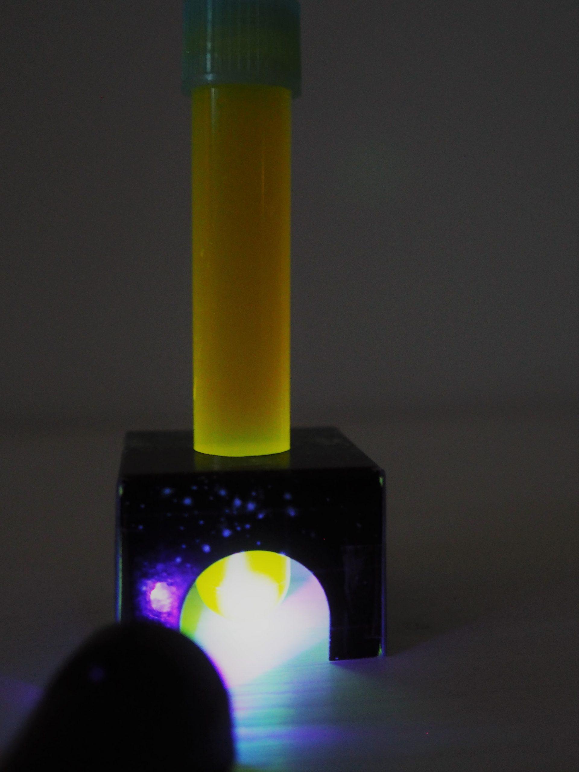Neon-Leuchten gelb