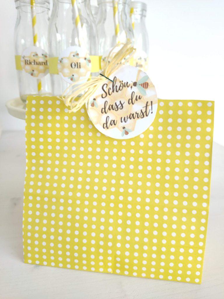 Bienen Geburtstag Mitgebsel