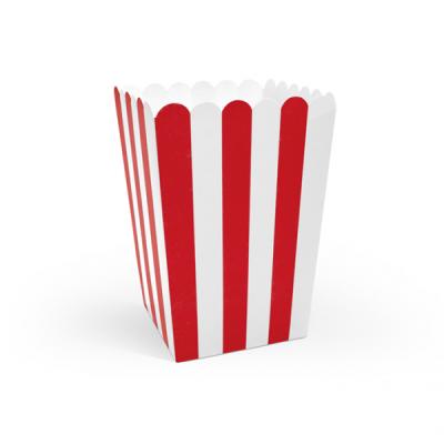 Popcorn Box rot weiß Piratenparty