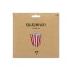 Popcorn Box rot weiß Piratenparty1