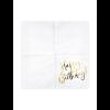 18.Geburtstag Serviette weißgold2