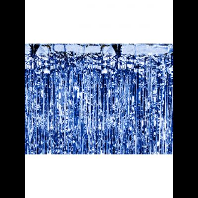 Glittervorhang blau